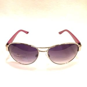 New JUICY COUTURE Sunglasses Aviator Silver Purple